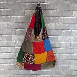 Patchwork hobo bag beautifully lined.